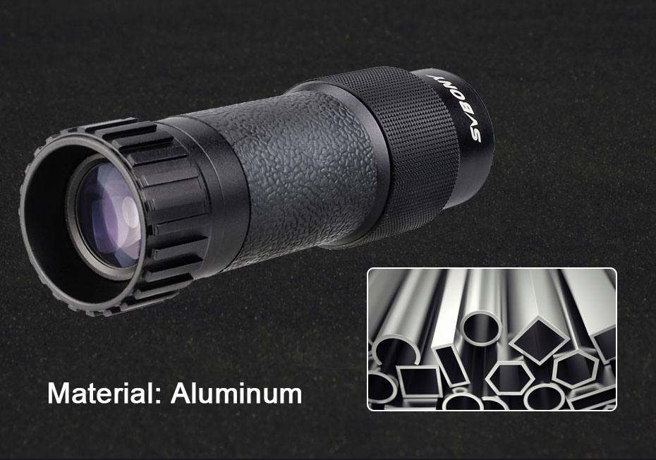 SVBONY 8x25/10x25 Metal Monocular Multi-layer Coated Imaging Clear Mini Portable Travel Opera Theater Museum Telescope SV301