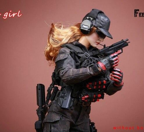 1/6 масштаб битва девушка 1,0 набор экшн фигурка с камуфляжным боевые костюмы тактические перчатки для стрельбы бейсбольная шляпа гетры колле... - 3