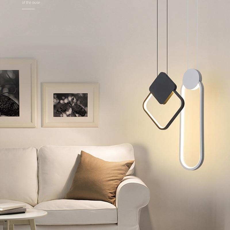 Zerouno Led Chandeliers Lamp Ceiling Mounted Led Lighting 220V Modern Cord Pendant Chandelier For Home Loft Hotel Decoration