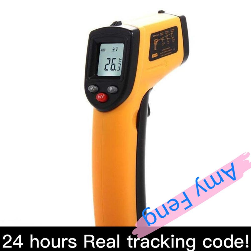 Digital LCD Infrared Thermometer Gun Non-Contact IR Laser Point Thermal Infrared Imaging Temperature Handheld Pyrometer