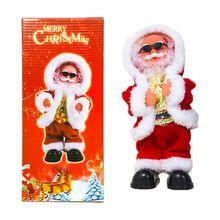 Christmas Decorations Singing Santa Claus Automatic Uncap Electric Music Children Toy