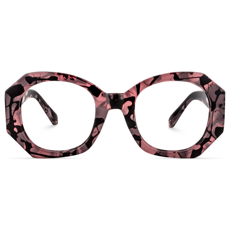 Zeelool Unisex Retro Geometric Eyeglasses Frame with Non-prescription Clear Lens Desire ZOP02010
