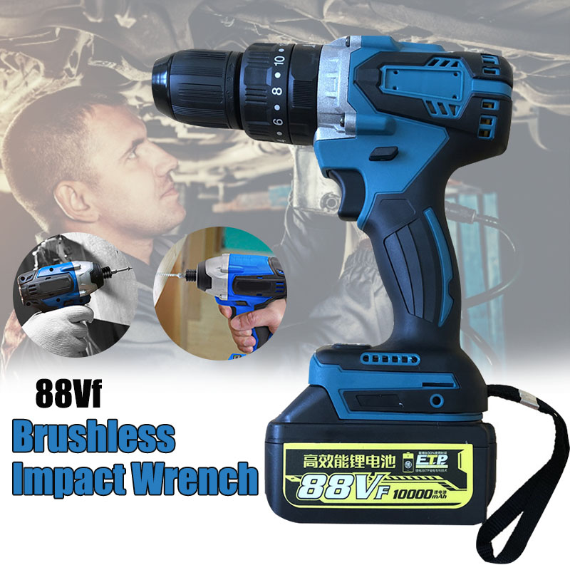 88V Max Electric Screwdriver Cordless Drill Mini Wireless Power Driver DC Lithium-Ion Battery 13mm 1800rpm Professional Tools image