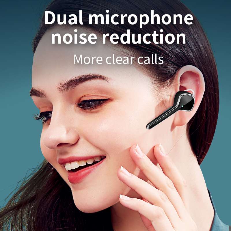 lowest price New earphone wireless handsfree Bluetooth headset Business earphone with microphone with charger Active noise cancelling