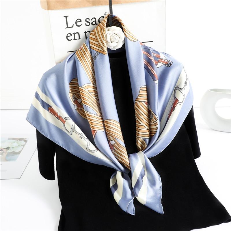 Projekt szalik z wzorem kobiety szyi Wrap hidżab z pałąkiem na głowę pani wiosna szal Foulard Pashmina szalik chusty z bandaną