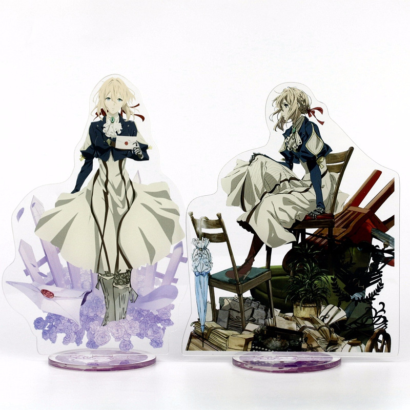 Japanese Anime Figure Anime Acrylic Stand Model Toys Action Figure Pendant Toy Gift  21cm Violet Evergarden