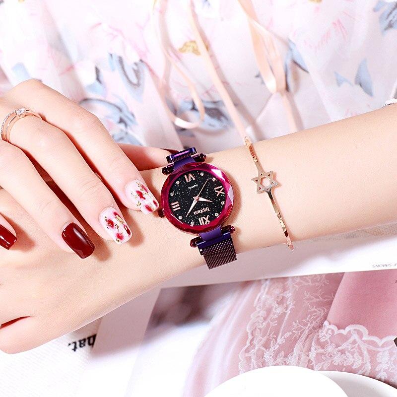 Top Brand Luxury Rose Gold Watches Women Magnetic Stainless Steel Mesh Casual Clock Ladies Wrist Watch Relogio Feminino Gift