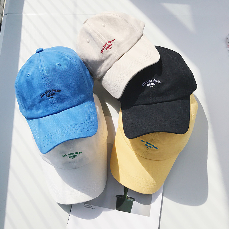 Spring Summer Simple Letter Embroidered Baseball Cap Women Korean Version Leisure Joker Sunshade Student Cap Street Tide Cap
