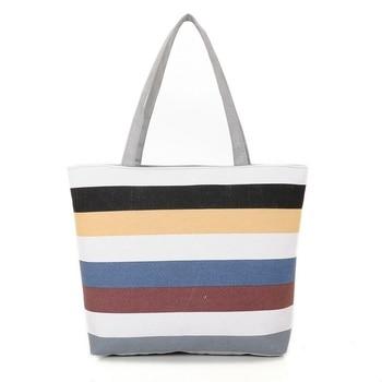 New Canvas Tote Bag Reusable Shopping Large Folding Eco Foldable Cotton Bags Women Handbag Womens
