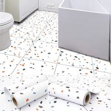 Self Adhesive Vinyl Paper Waterproof and Wear-Resistant Toilet Kitchen Floor Renovation Wallpaper Thickened PVC Floor Sticker