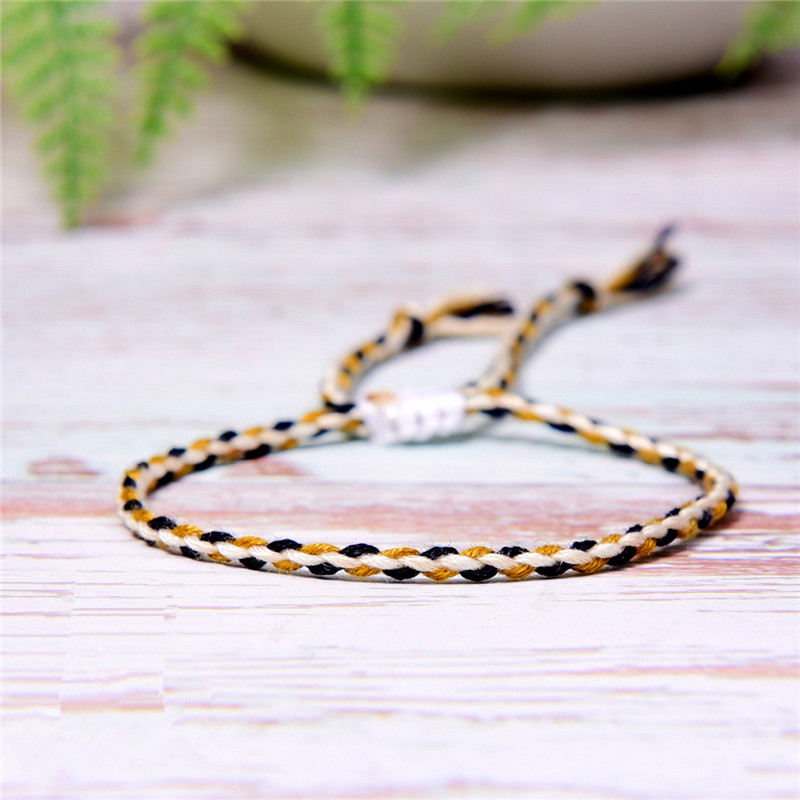 Tibetan Buddhist Handmade Color Cotton Rope Bracelet Lucky Friendship Thread Bracelets & Bangles For Women Men