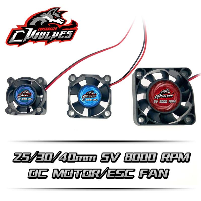 25/30/35/40mm 8000RPM 5V-7V DC Motor ESC Fan Heat Sink For 30A 60A 120A 150A ESC 3660 4274 Motor RC Parts Futaba Plug
