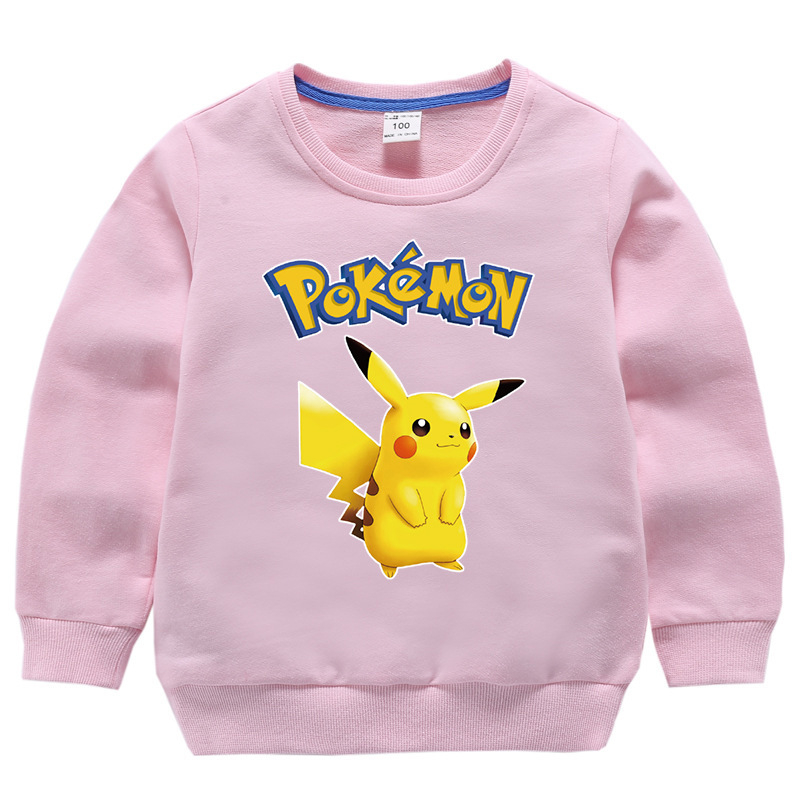 Sweatshirt Hoodies Jacket Pullover Anime Winter Boys Cartoon for Kid Autumn Round-Neck