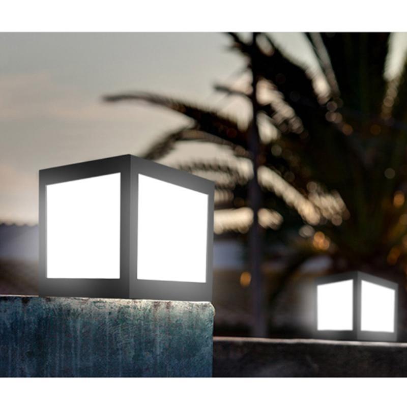 lampada conduzida posta solar do pilar do abs impermeavel para a luz exterior da villa do