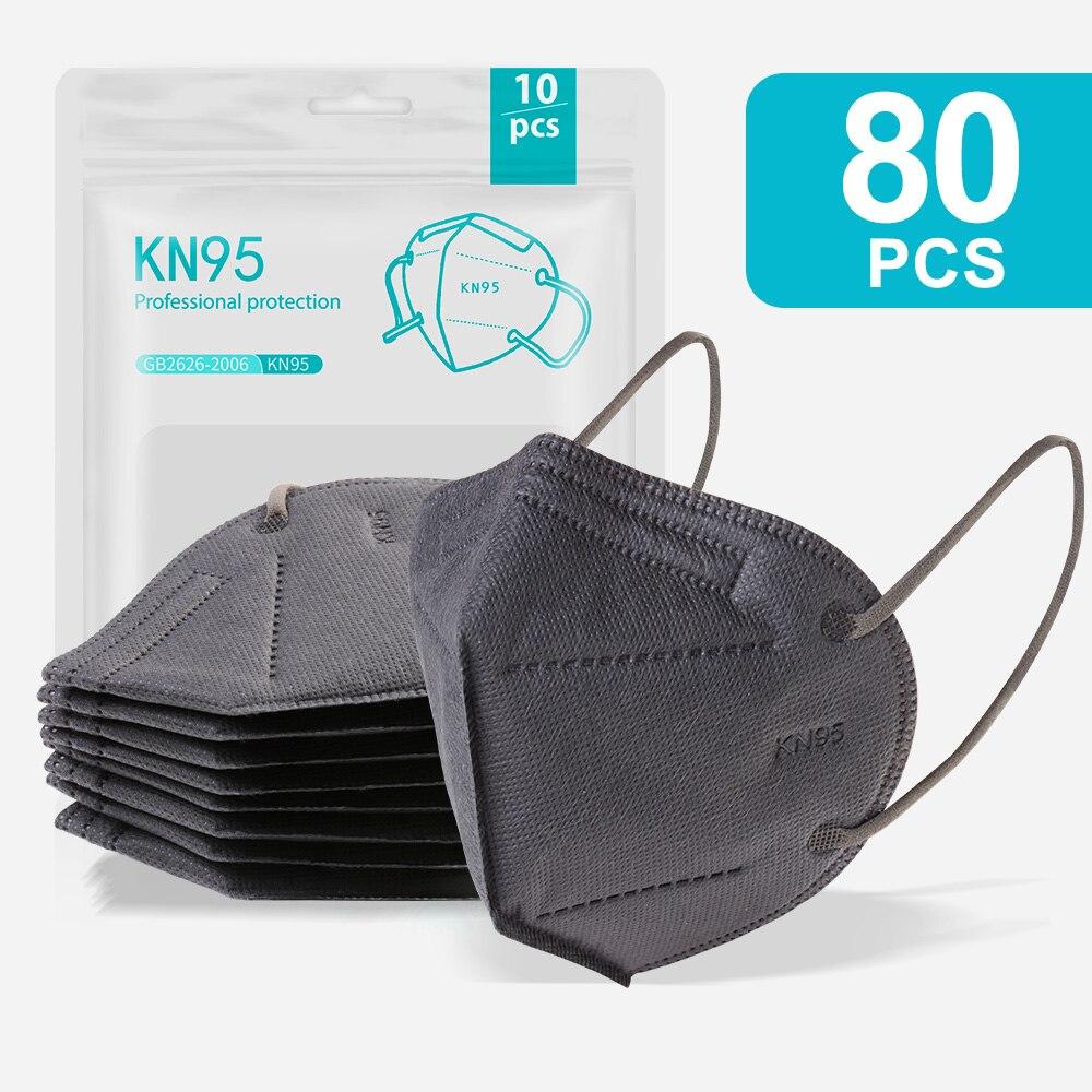 80PCS Gray-KN95