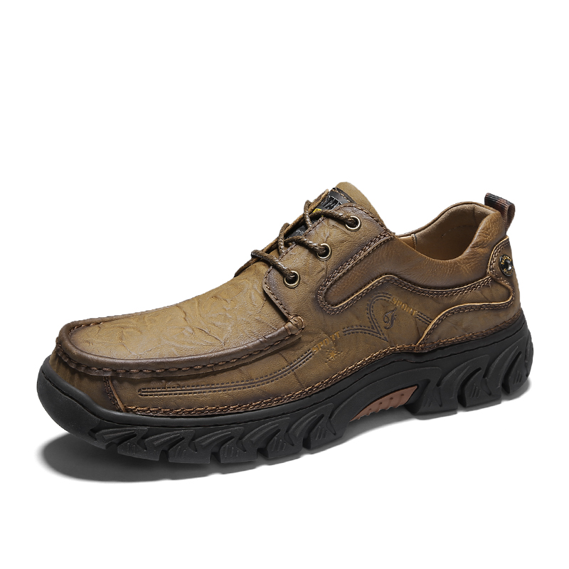 2019 hiver hommes bottes neige chaussures décontractées en cuir véritable bottine homme grande taille 38-47 chaussure bois terre bottes militaires pour hommes
