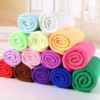 Water Absorbent Microfiber Soft Car Washing Solid Color Fast Drying Hand Towel Car accessories 2020 image