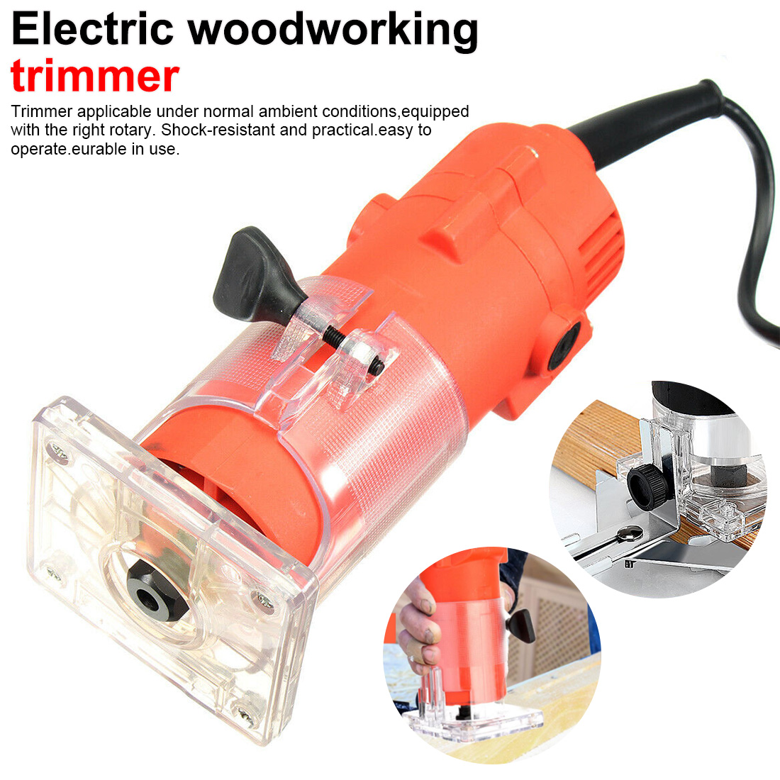 Electric Trimmer Wood Tool 220V 110V 1300W Wood Laminate Router 30000rpm Trimming Carving Milling Machine For Woodworking