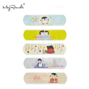 Image 3 - 100 قطعة ضمادات لاصقة مضادة للماء تسمح بالتهوية على شكل فرقة كارتونية لطيفة للأطفال