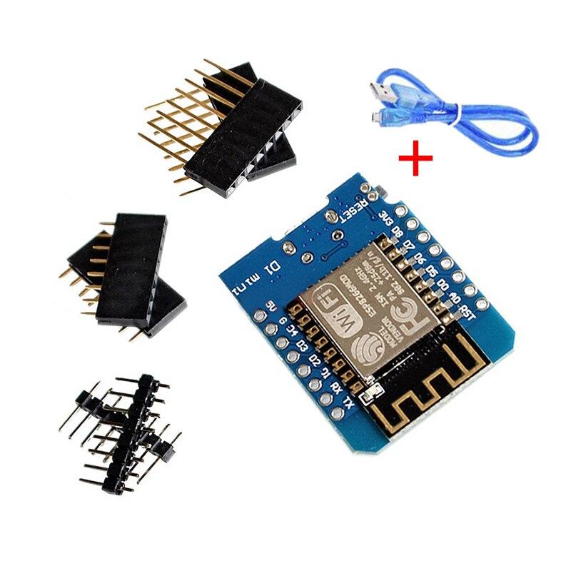 ESP8266 ESP-12 ESP-12F CH340G CH340 V2 Usb Wemos D1 Mini Wifi Development Board D1 Mini Nodemcu Lua Iot Board 3.3V Met Pins