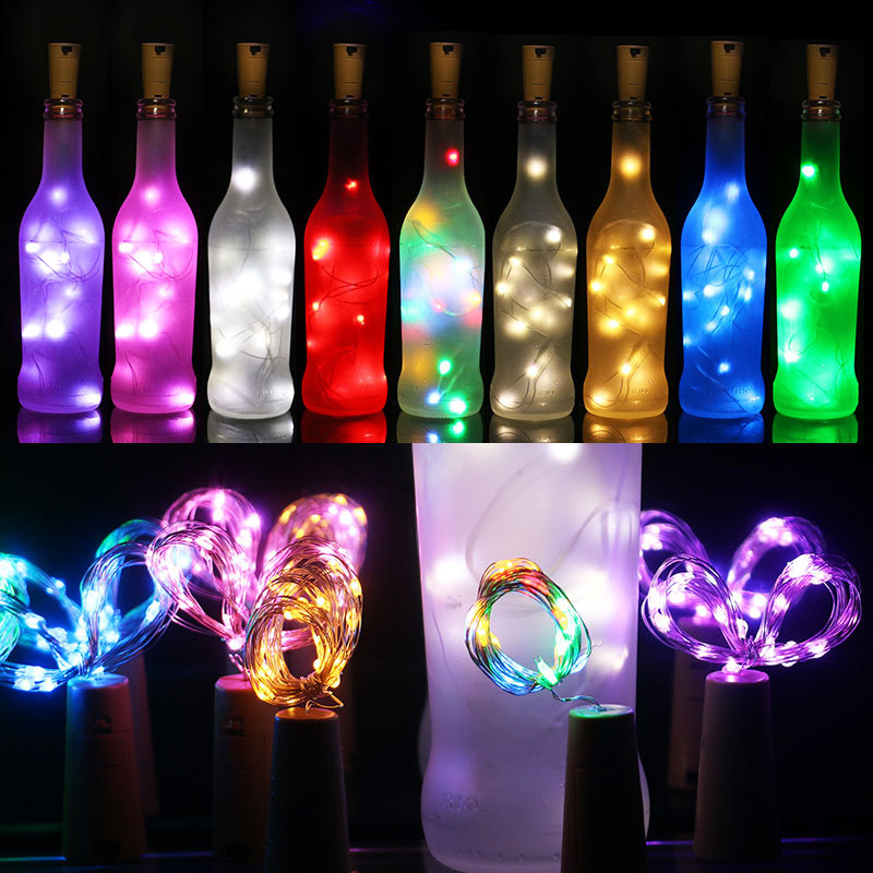 2m 20LEDs Wine Cork Light Night Light Home Decor Garland Copper Wire Corker String Wedding Valentines String Fairy Light
