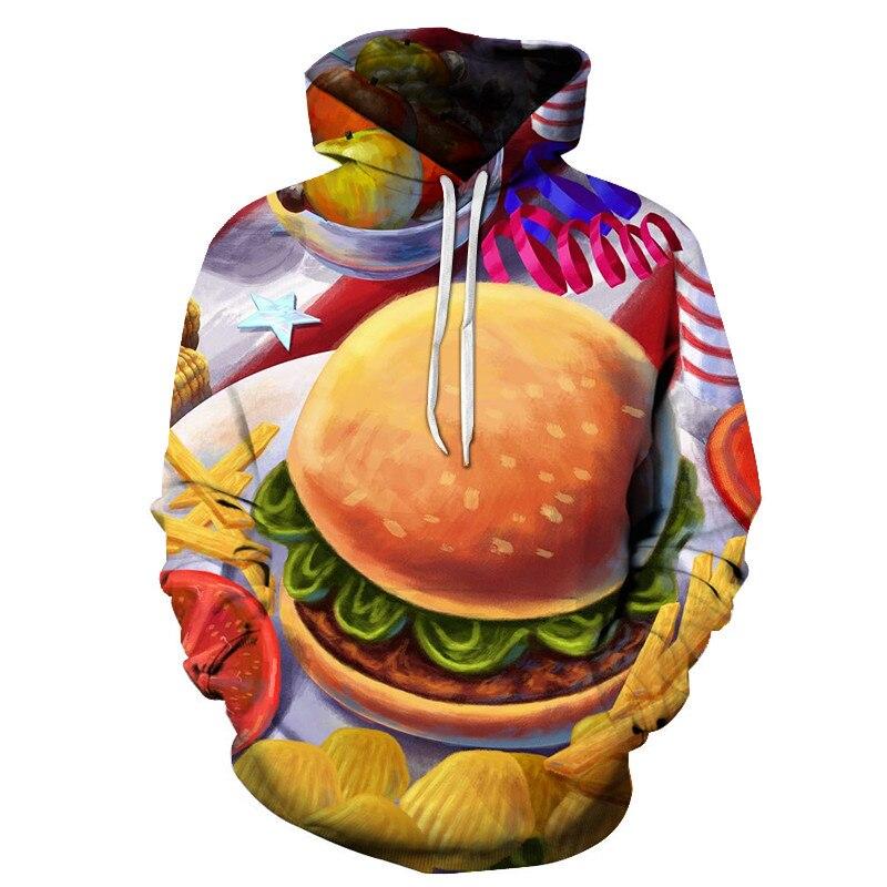 3D Printed Burger Food Drinks Hoodies 23