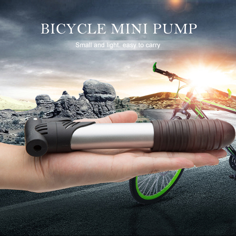 2020 Cycling Mountain Bike Portable Mini Pump Double Stroke Design For French And American Gas Mouth Bicycle Pump New Newest