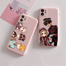 Jibaku shounen hanako kun toalete-bound hanako-kun rosa caso de telefone macio para iphone 12 11 pro max x xr xs 8 7 6 plus mini capa