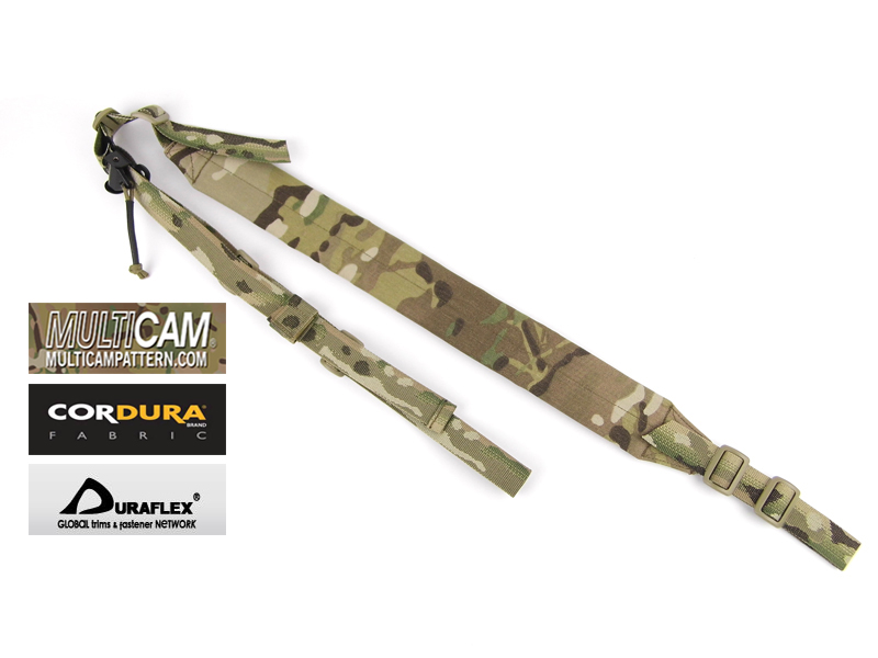 Tactical MK2 Padded Gun Sling Hunting Strap 2 Points In Multicam Jacquard Multicam Strap(STG050591)