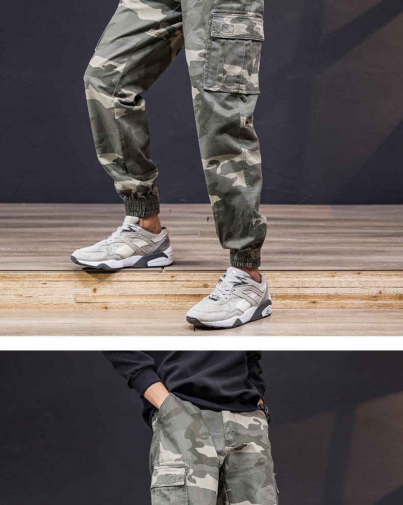 KSTUN Cargo Pants Men 100% Cotton Baggy Military Pants Khaki Camouflage Pants Casual Man Trousers Loose fit Streetwear Men Joggers 17