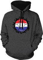 TSDFC Men's Netherlands Flag Soccer Ball, Dutch Two Tone Hoodie unisex men women hoodie