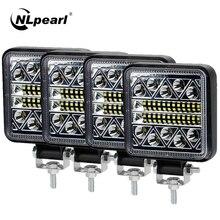 NLpearl 12V 24V Offroad LED Work Light Spot Flood Beam for Truck Car Tractor Boat 4X4 4WD SUV ATV Barra LED Lightbar Fog Lamp