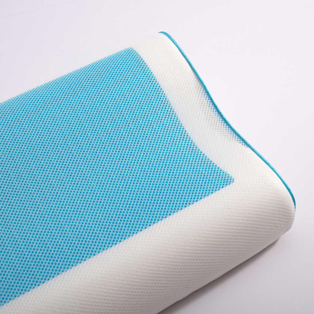 1 個夏低反発枕アイスクール抗いびきネック整形外科睡眠 Pillowcover 枕クッションのためのホーム寝具