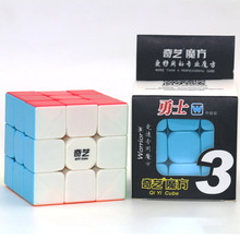 Qiyi Warrior W 3x3x3 prędkość Cube Stickerless profesjonalna magiczna kostka puzzle kolorowe edukacyjne zabawki dla dzieci czerwona kostka