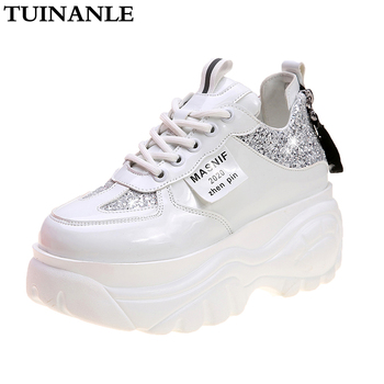 TUINANLE Chunky Sneakers Wedges Shoes for Women Bling White Womens Shoes Spring/Autumn 2020 Platform Sneakers Sapatos De Mujer platform sneakers women shoes casual sneakers wedges platform shoes mesh breathable autumn white sneakers women zapatillas mujer