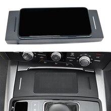 10W سيارة تشى اللاسلكية شاحن لأودي A6 C7 RS6 A7 2012 2013 2014 2015 2016 2017 2018 شحن palte اللاسلكية حامل هاتف