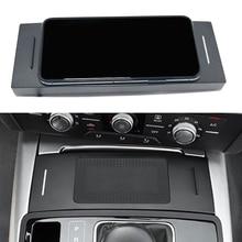 10W araba QI kablosuz şarj için Audi A6 C7 RS6 A7 2012 2013 2014 2015 2016 2017 2018 şarj plaka kablosuz telefon tutucu