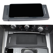 15W auto QI drahtlose ladegerät für Audi A6 C7 RS6 A7 2012 2013 2014 2015 2016 2017 2018 lade palte drahtlose telefon halter