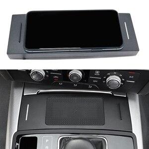 Image 1 - Chargeur de voiture sans fil QI 10W, base de charge pour téléphone Audi A6, C7, RS6, A7, 2012, 2013, 2014, 2015, 2016, 2017, 2018