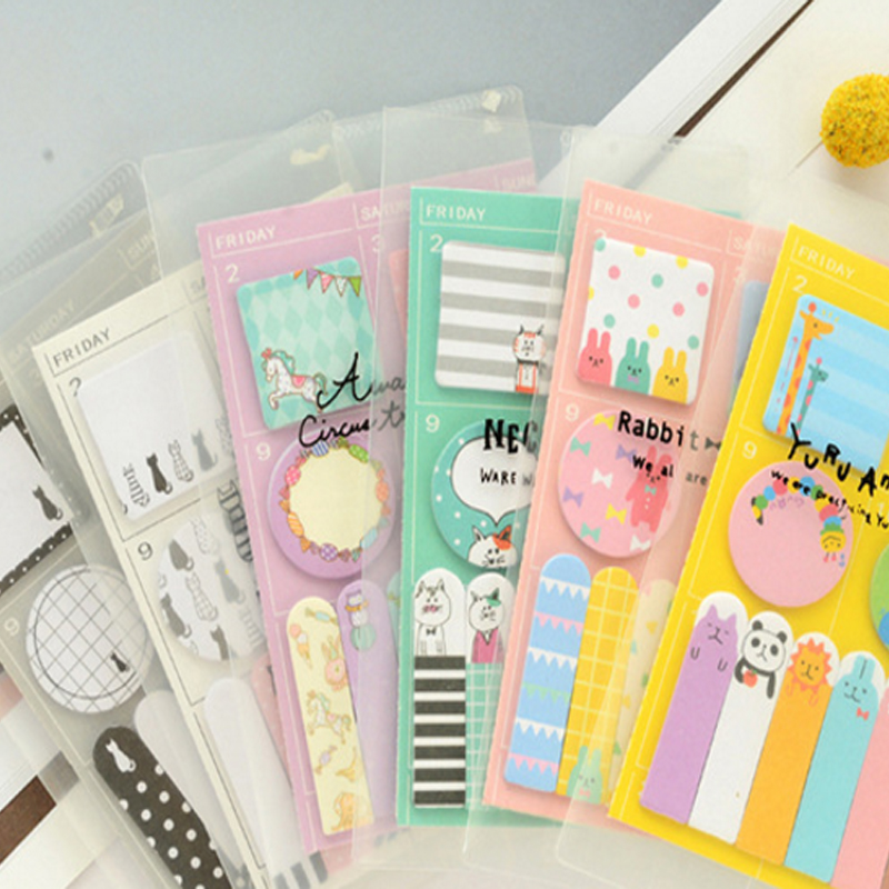 1pack/lot Cute Creative Cartoon Week Plan N Times To Post Notes Six Selections Sticky Notes School Supply