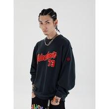 Новинка 2020 стильный флисовый пуловер с надписью мужской уличный