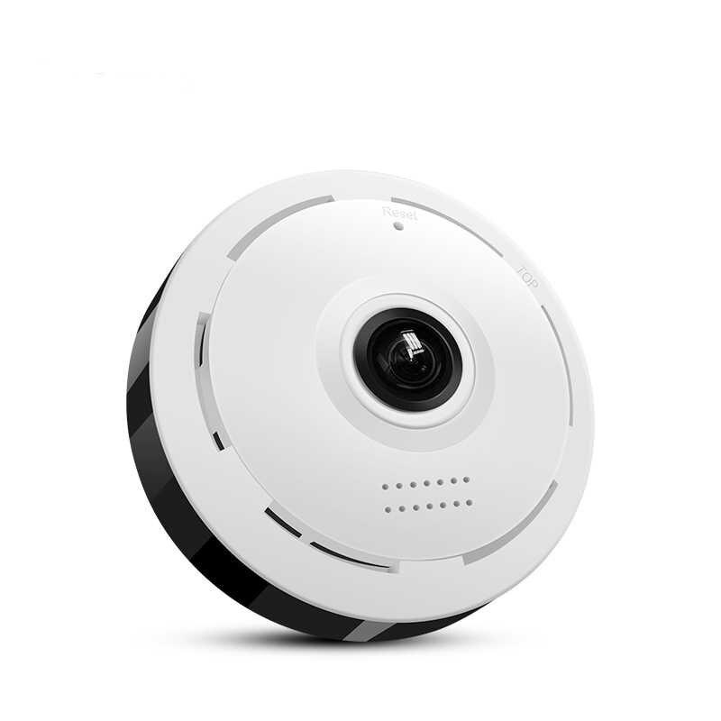 Wi-Fi, Беспроводной панорамная камера видеонаблюдения рыбий глаз 360 градусов Ночное видение HD панорамная Камера (штепсельная Вилка европейского стандарта)