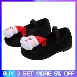 Детская Рождественская мягкая плюшевая Лоскутная обувь с рисунком в горошек для маленьких девочек, осенне-зимняя повседневная