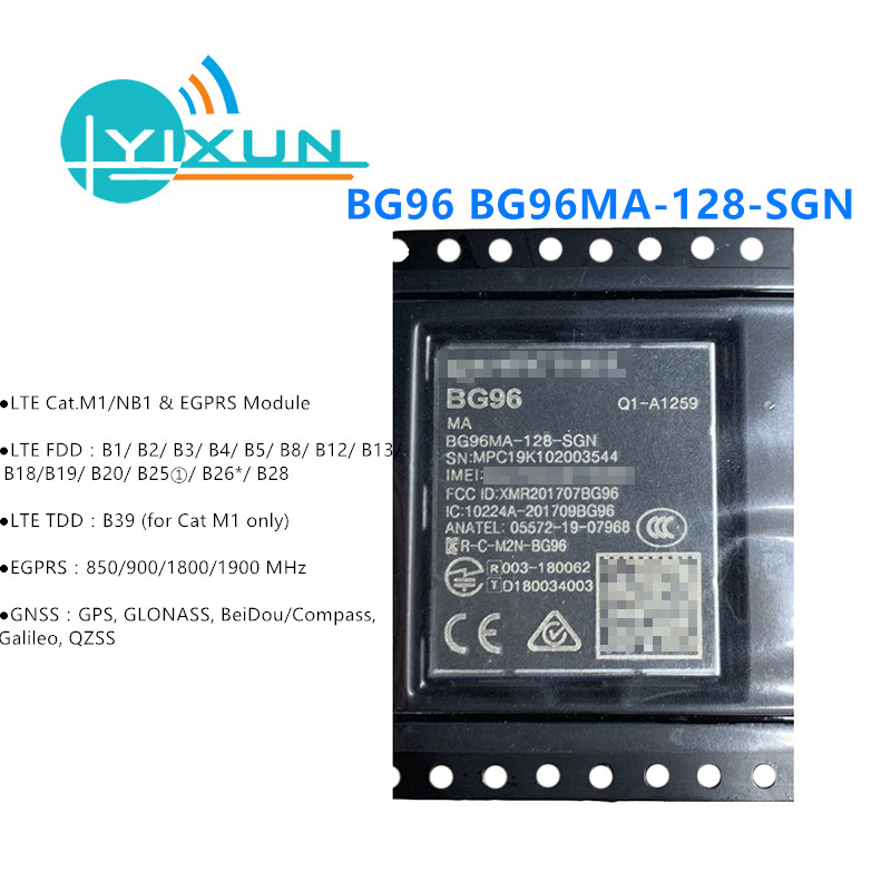 BG96 BG96MA-128-SGN LTE Cat.M1/NB1 & EGPRS Module NBIOT Modem Pin To Pin EG91/EG95