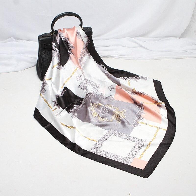 Женский шарф, шелковые шарфы, шали, Женские палантины, мягкие декоративные мешки для волос, для девушек, шелковые шарфы