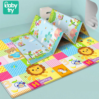 Foldable Toddler Floor Mat Crawling Playmat Toys Carpet Soft Rug Large Baby Play Mat For Kids 1cm Thick Double-sided Waterproof baby cushion crawling play mat playmat kids gift toy child carpet play soft floor gym rug baby room decoration accessories china