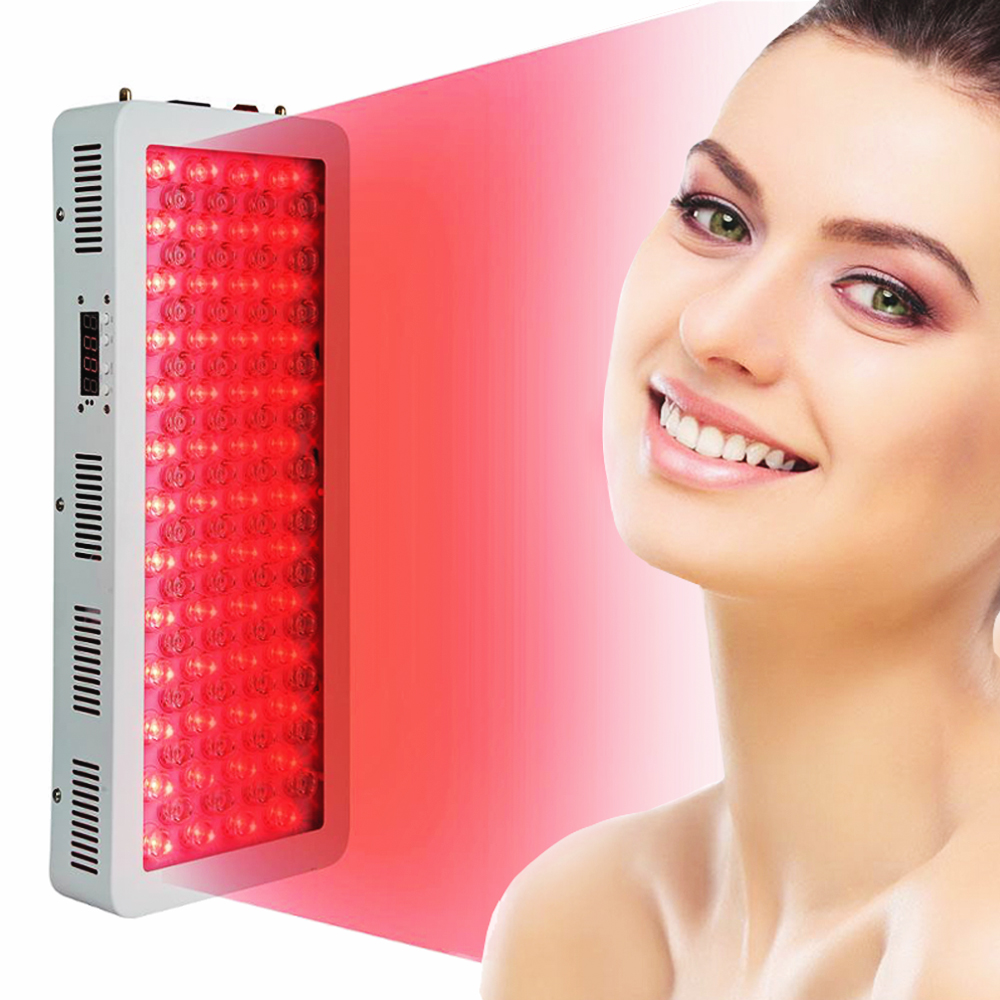 US $182.0 30% OFF|300W 500W 1000W 660nm LED czerwona terapia światłem 850nm lampa terapeutyczna LED W bliskiej podczerwieni do bólu skóry urządzenie