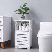PVC WaterProof Cabinet for Bathroom & Toilet Storage or Bedroom Storage as bedside Nightstands Easy for Cleaning - US Stock