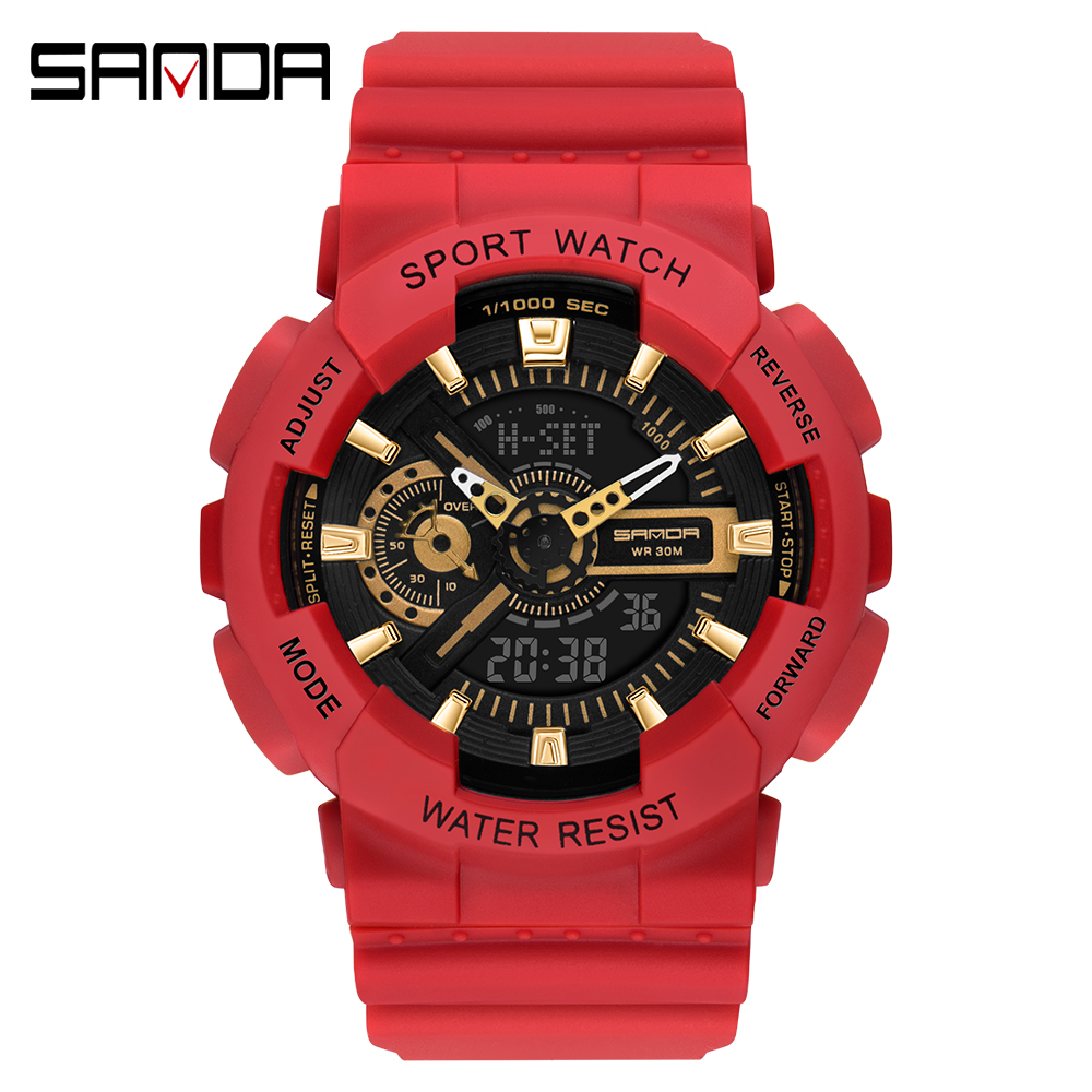 2020 SANDA Military Men's Watch Top Brand Luxury Waterproof Sport Wristwatch Fashion Quartz Clock Couple Watch relogio masculino 17