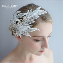 HIMSTORY Handmade Vintage Side Hairpins Romantic Wedding Party Evening Deess Hairwear Accessories